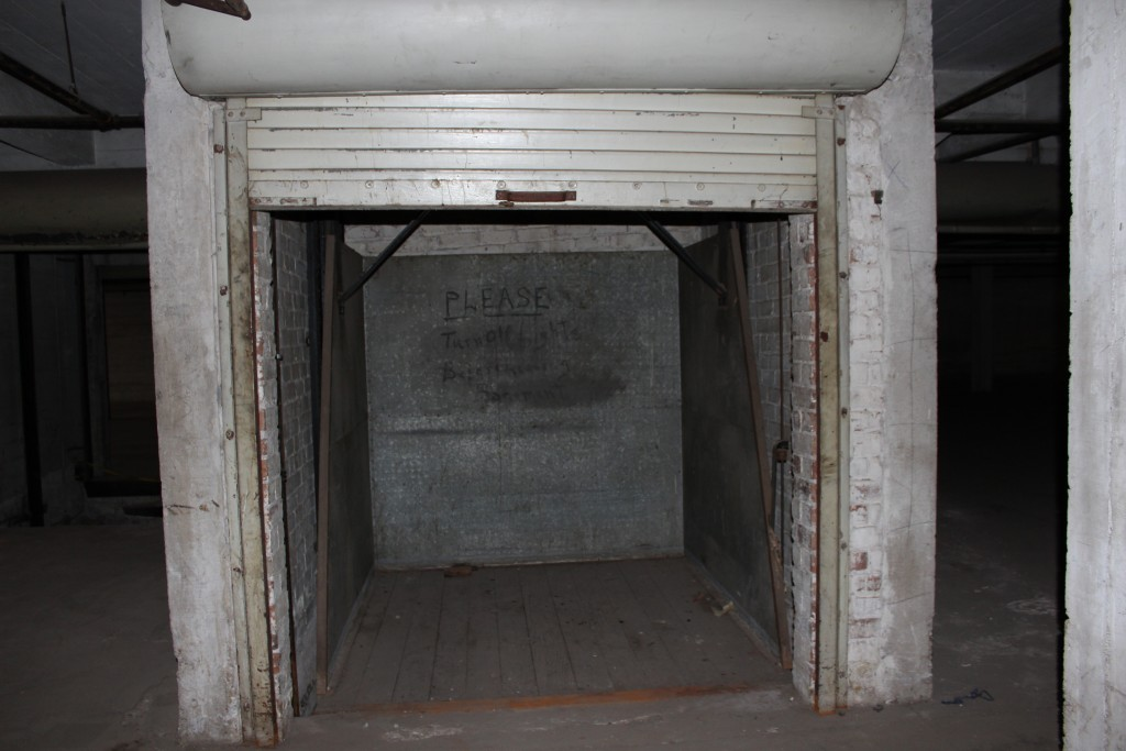 We're preserving this historical freight elevator, but it won't be used, per city code.