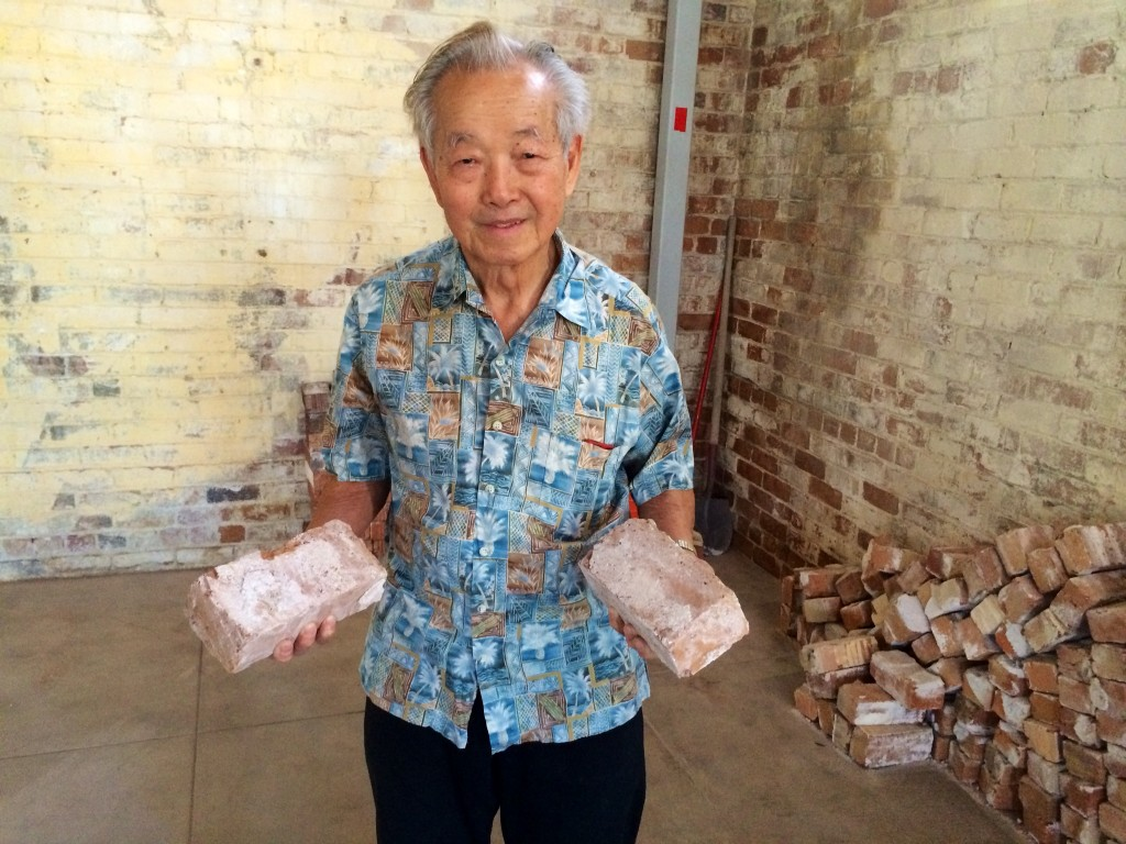 92-year-old son of the warehouse founder, Mr. Henry Ong Jr. After we gave him a tour, he walked away with these mementos.